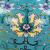 ボナロ缔中式セラミックテーピングリビング书房寝室ベッドルームのベットヘッドゴアジップ复古的なアイデアを持つ欧式全铜セラミックテージの直径46 cm、高さ71 cmの孔雀ブルー