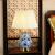 索ラジウム特新中国式ベッドルームのベットヘッドのブルーレイ景徳鎮青と白の磁器の芸術装飾リビングルームの全銅家庭用照明器具の青と白のAタイプの幅40 cm高さ61 cmボタンのスイッチ+7 WLED