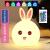 バレンタインデープレゼント520萌兔シリカゲル小夜灯創意プレゼント充電七色手はウサギのテープルライトを撮って、彼女に女の子と友達に子供の誕生日プレゼントをあげます。七色触控充電式です。