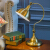 一般丁堡(FANDBO)アメリカー寝室枕灯现代简单な青铜色の机は创意的な饰り照明器具288を调节することができます。
