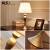 アメリカの田舎のテープルプルベッドルームのヘッドランプは現代北欧創意古銅ホテルのベッドの上で結婚しました。