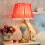 星の窓欧式豪華テールブルプ寝室のベッドランプ装飾ランプ新中国式景徳鎮陶磁器テーブルップアメリカ式創意簡単で暖かいロマンチック結婚祝い赤いリビングルーム書斎テールプルプAモデル/普通LEDボタンスイッチ