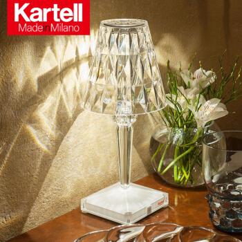 Kartell Cadiel創意的な寝室ヘッドランプLEDバッテリーサポート充電6時間携帯ダイヤモンドライト9140+B 4/クリスタル