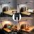 好眼縁デザイナーLEDアームワークデザイン学生学習保護デスク読書灯ビジネス用イラストクリップ6段調光4色温度8 w F 201黒ベースモデルプラグイン