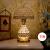 スベ雪テ-ブ-ルラインプ寝室ベッドルームのベッド水晶欧式豪華結婚式創意現代簡単でファッション的で暖かい装飾北欧調光7332金色知能リモコンスイッチ
